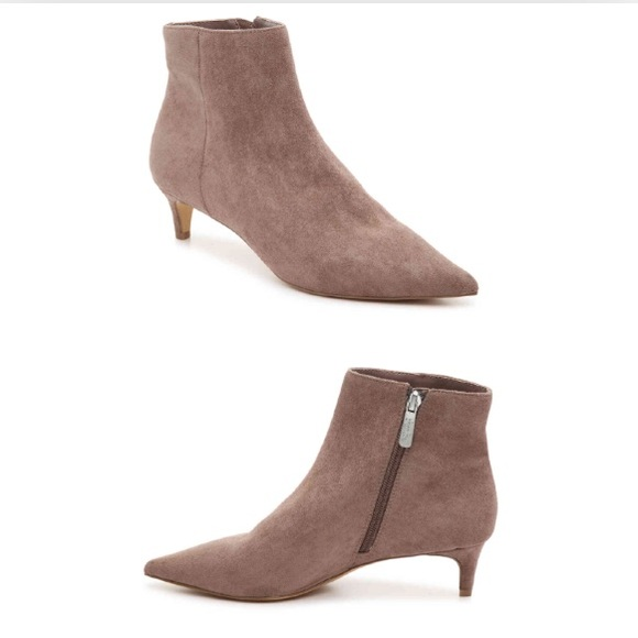 52de46f85c3 Charle David Kannon Taupe MicroSuede Bootie